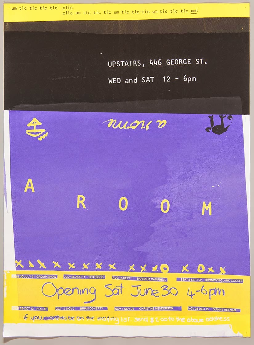 Exhibition Poster 1984 - A Room - Courtesy of QAGOMA Library Collection