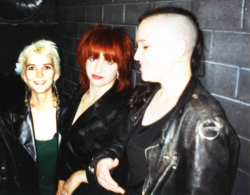 Artist Jasmine Hirst (L) with Lydia Lunch and artist Linda Dement (R)