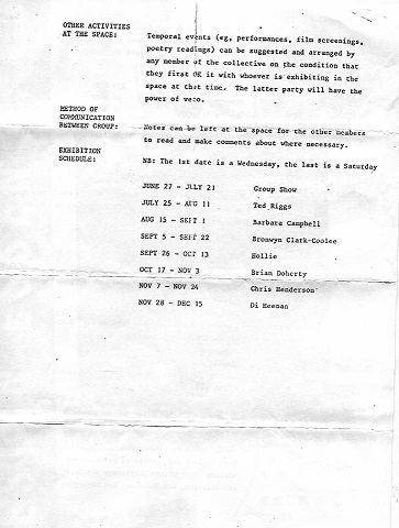 A ROOM letter 1985 Page 2