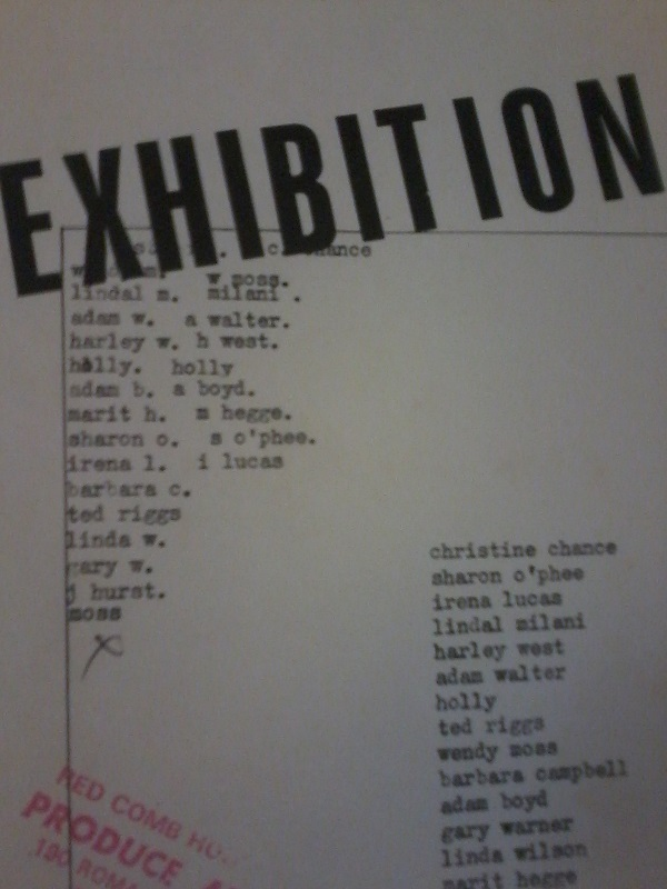 Exhibition ( Produce Art - 10-24 March) , Red Comb House, Exhibition Flyer, 1982